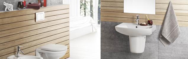 Minimalistyczne meble łazienkowe i ceramika sanitarna SELLA