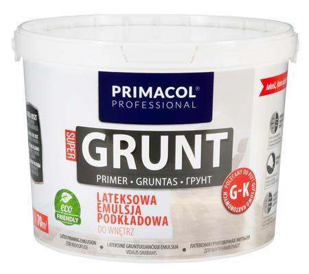 Lateksowa emulsja podkładowa do wnętrz Supergrunt PRIMACOL Professional