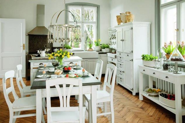 Zobacz galerię zdjęć Meble kuchenne retro Aranżacje   -> Urządzanie Kuchni Z Jadalnią