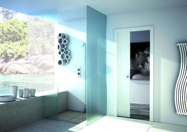 Rozwiązania do małej łazienki. Drzwi przesuwne