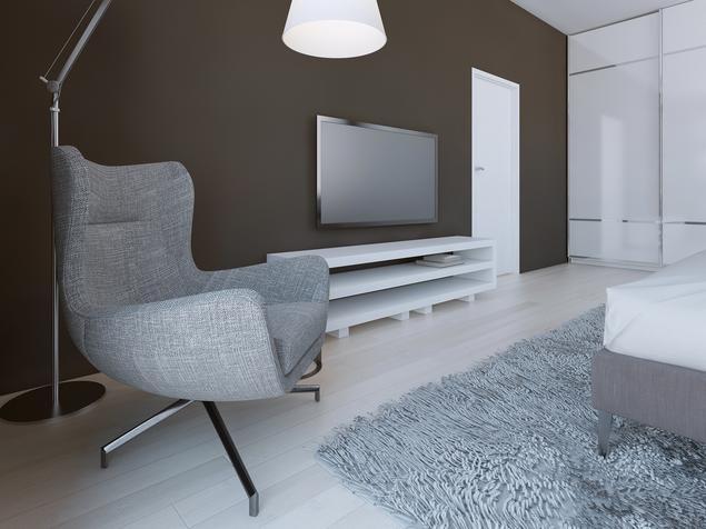Pomysł na sypialnię - styl minimalistyczny