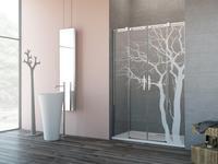 Grawerowanie szkła na kabinach prysznicowych – pomysł na dekorację wnętrz