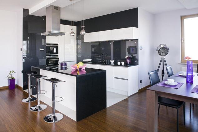 Zobacz galeri zdj perfekcyjnie zaplanowane otwarte for Kuchnia z salonem aranzacje
